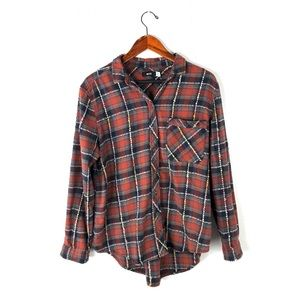 Urban Outfitters BDG top plaid flannel button down